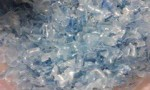 Plastic Hot washed clear pet flakes