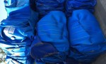 Plastic HDPE Blue Drum Scrap